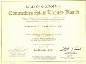 Licenses & Insurance Information